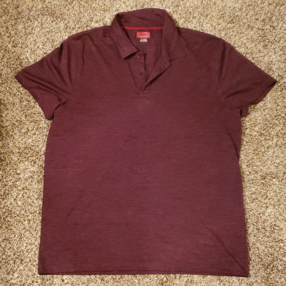 Alfani Other - Men's Dark Red Performance Polo Shirt